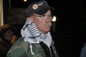 Viet Nam veteran Sam Adams at Vietnam Veterans Memorial Plaza Oct. 7, 2012. Photo by ELLEN DAVIDSON