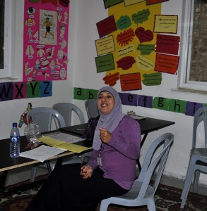 Wafaa Shahin, the English teacher. Photo by ELLEN DAVIDSON