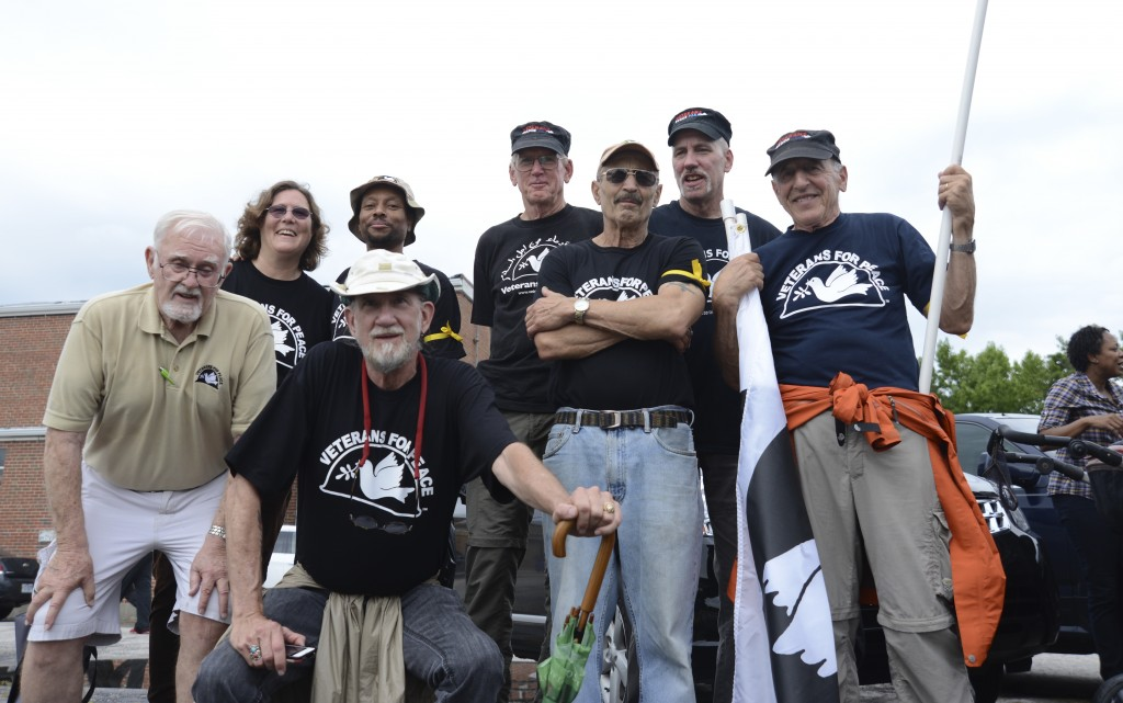 Members of Veterans For Peace from around the country served as marshals for the march. Photo by ELLEN DAVIDSON
